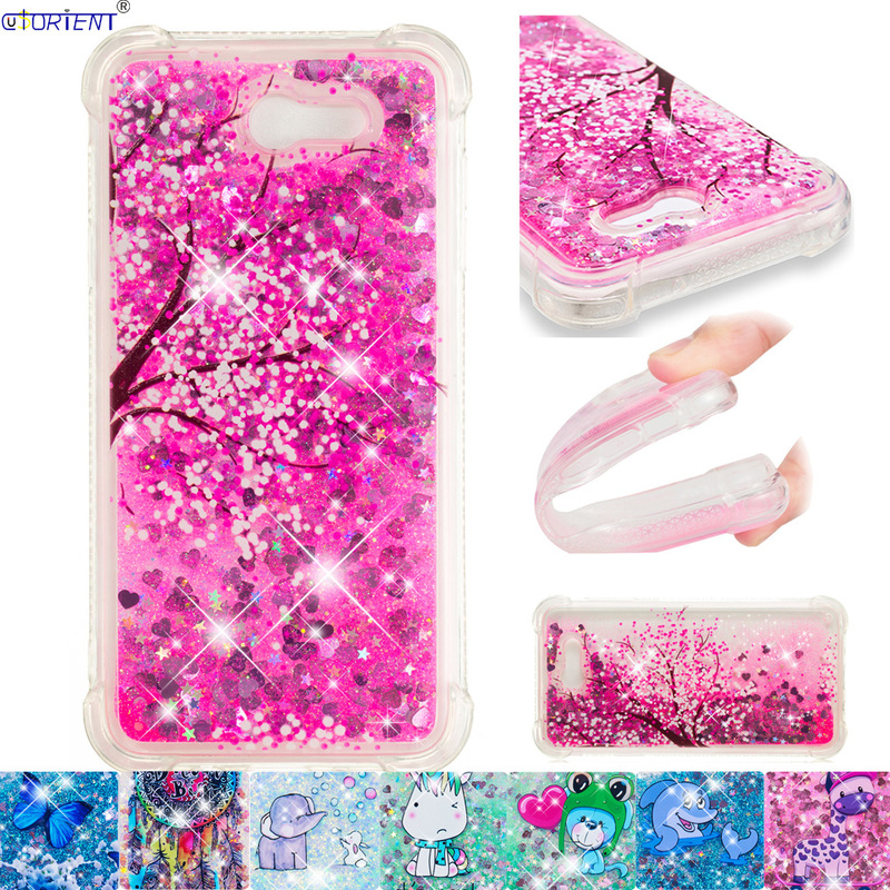 save off 4abdf f2bf1 US $4.35 7% OFF|For Samsung Galaxy J7 Perx Halo Prime 2017 Soft Silicone  Bumper Case J727 SM J727T1 Glitter Dynamic Liquid Quicksand Back Cover-in  ...