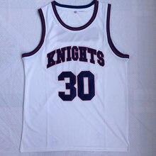 550289d90 BONJEAN Throwback Basketball Jerseys 30 Stephen Curry White Charlotte  Christian