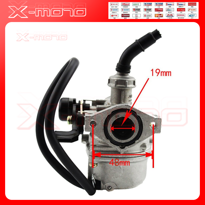 PZ19 19mm Motorcycle Carburetor 50cc 70cc 90cc 110cc 125cc ATV Dirt Bike Go Kart Carb Choke Taotao carburettor vodool motorcycle 20mm carburetor for pz20 50cc 70cc 90cc 110cc 125cc atv carb moto accessories