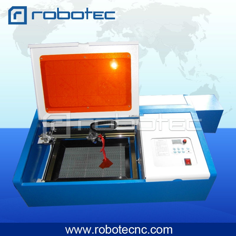 Mini CO2 Laser Engraving Machine 40W RTJ-K40 For Rubber/ Acrylic/ Wood/paper/ Coated Metal
