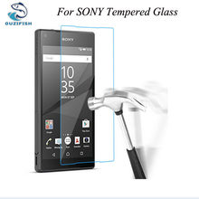 OUZIFISH 9H Tempered Glass film For Sony Xperia M2 M4 AQUA M5 C3 C4 C5 ltra/ultra E3 E4 E4G E5 Screen Protector Film Cover Case(China)