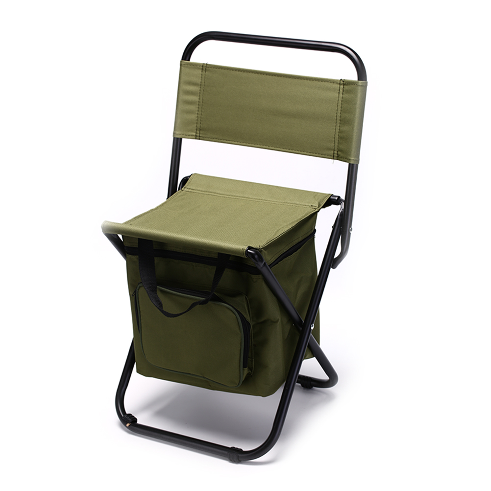Portable Fishing Chair With Cool Bag Oxford Cloth Stool With Large Capacity Storage Zipper Ice Bag Fishing Chair Bag 28x29x60cm seat oxford cloth lightweight 3 in 1 outdoor portable multifunctional foldable cooler bag chair backpack fishing stool chair
