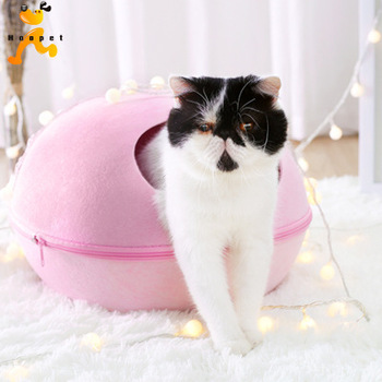 Creative Bed Pets Cat Sleeping House Bed Felt Warm Material Egg Cave Bed for Cat 3 Colors 1