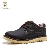 Vesonal Лидер продаж 2017 Пояса из натуральной кожи Обувь для Для мужчин взрослых осень-зима Обувь на теплом меху мужской Обувь работы Повседневное качество обувь для ходьбы