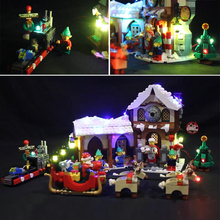 Led Light Set For Lego 10245 Santas Workshop The Father Christmas Working Room Winter Building Blocks (only light+Battery box)