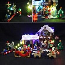 Набор светодиодных светильников для lego 10245 мастерская Санты