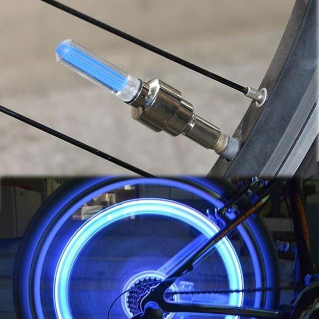 Hot Bicycle Cycling Tyre Wheel  Valve Neon Firefly Spoke LED Lamp Bikes Lights High Quality