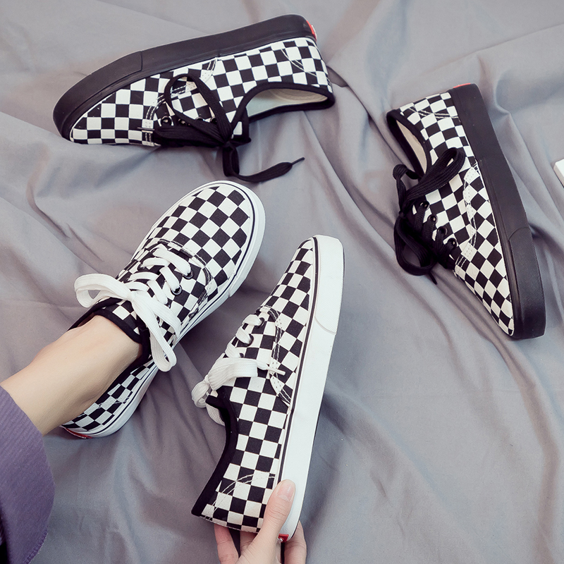 Canvas Shoes Skateboard Women's Sneakers Korean-Version Casual New Summer Student White