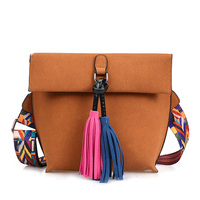 ANTBOOK New Brand Designer Women Handbags Vintage Tassel Students School Bags Scrub Wide Belt Solid Women
