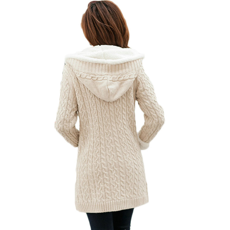 New arrival Girl Sweater Coat Winter 2019 Autumn Casual Solid Hooded - Women's Clothing - Photo 5