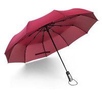 Ev Merchandises Womens Rüzgar Geçirmez 10 Kemik Büyük Tri-katlanmış Şemsiye Yağmur/Güneş Şemsiye Sıcak Satış