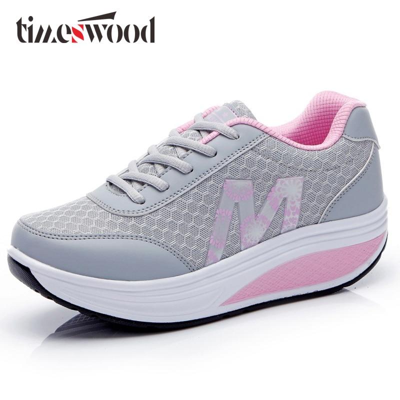 Ladies Lace Up M Letter Swing Shoe Pink Blue Gray Colors Novelty Thick Bottom Mesh Shoes For Women Winter Fashion 2017 2018 Sale игрушка ecx ruckus gray blue ecx00013t1