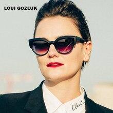 Olho de gato Óculos De Sol Das Mulheres de Luxo Marca Designer óculos de Sol  Óculos de Raios Retro gunes gozlugu bayan Bens senh. f5a50884f3