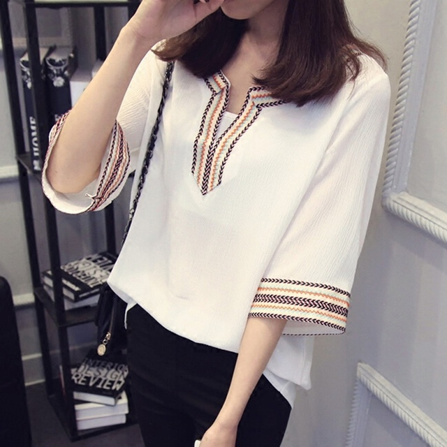 Mexican Blouses Women Boho Style Clothing Ladies Elegant Mexican
