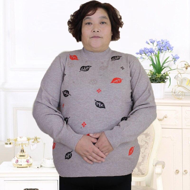 Plus la taille 8Xl 7XL Nouvelle plus la taille femmes plus graisse mère équipée automne et d'hiver pull en cachemire chandail PJ6028