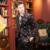 OSCN7 Moda Impreso Traje de Los Hombres Slim Fit Muesca Solapa Negro Más Tamaño vestido de Noche de Boda Del Novio Trajes de Ocio de la Marca Terno masculino