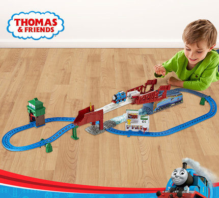 The Original Thomas Train Electric Track Gift Box Set Racing Over The Track Children's Toy DFL93 Fantastic Race