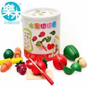 Игрушек! Лидер продаж, развивающий деревянный игровой домик, фруктовый Овощной набор, детский подарок на день рождения, 1 баррель