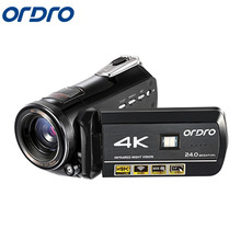Best price Ordro HDR-A C1 Digital Video Camera WIFI DVR 4K 120 FPS 720P Support Remote control 5MP CMOS Max 24mp Resolution 3.0 inch