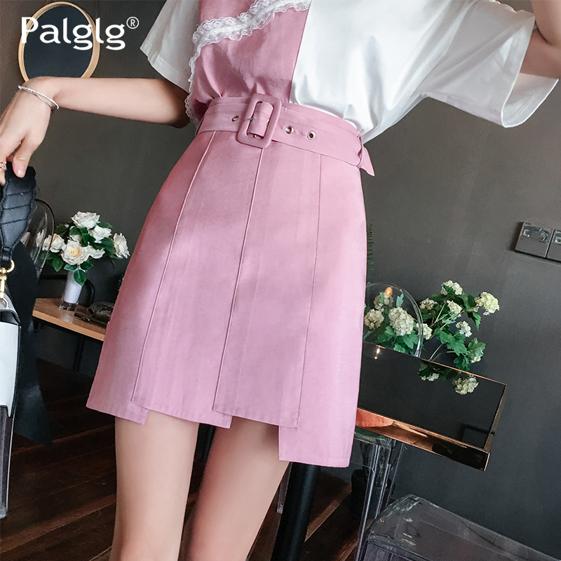 Chart Mince Taille Demi Rose Style Nouveau Haute Courte Printemps See D'été Jupe longueur 6wZOZ7