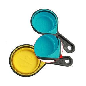 Image 4 - الخبز قياس الكؤوس والملاعق للطي الطبخ قياس كوب FDA Silione قياس ملعقة أدوات مطبخ المنزل اكسسوارات مجموعة
