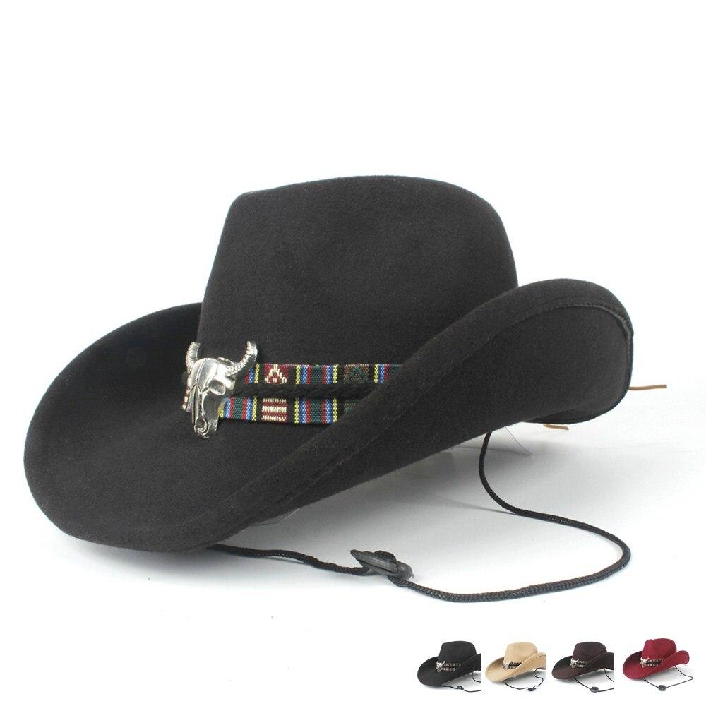 2019 Wolle Frauen Männer Hohl Western Cowboy Hut Roll-up Krempe Gentleman Outblack Sombrero Hombre Jazz Kappe M-l Starker Widerstand Gegen Hitze Und Starkes Tragen