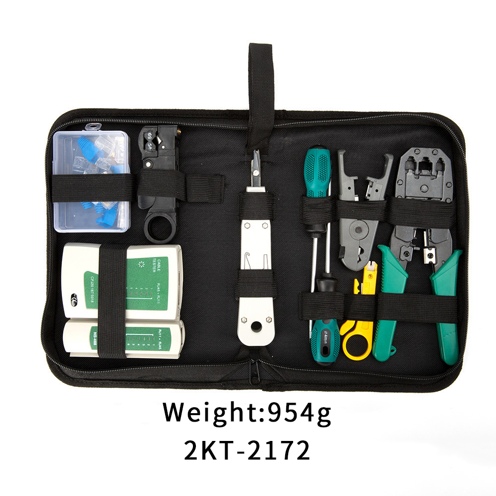 Ethernet Cable Crimping Wire Stripper hand tool set Stripping pliers hardware tool Portable LAN Network Repair Tool Kit in Hand Tool Sets from Tools