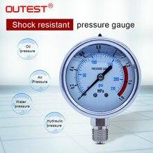OUTEST 0-60MPa Radial stainless steel manometer pressure gauge Air oil water Hydraulic Pressure gauge Thread G 1/4