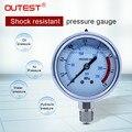 Outest 0-60MPa радиальный манометр измеритель давления воздуха масла воды гидравлический манометр Резьба G 1/4