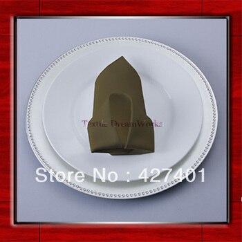 High Quality 50x50cm Polyester Plain Canteen Napkin / Table Napkin / Hotel Napkin / Dinner Napkin  (Factory Direct Sale)