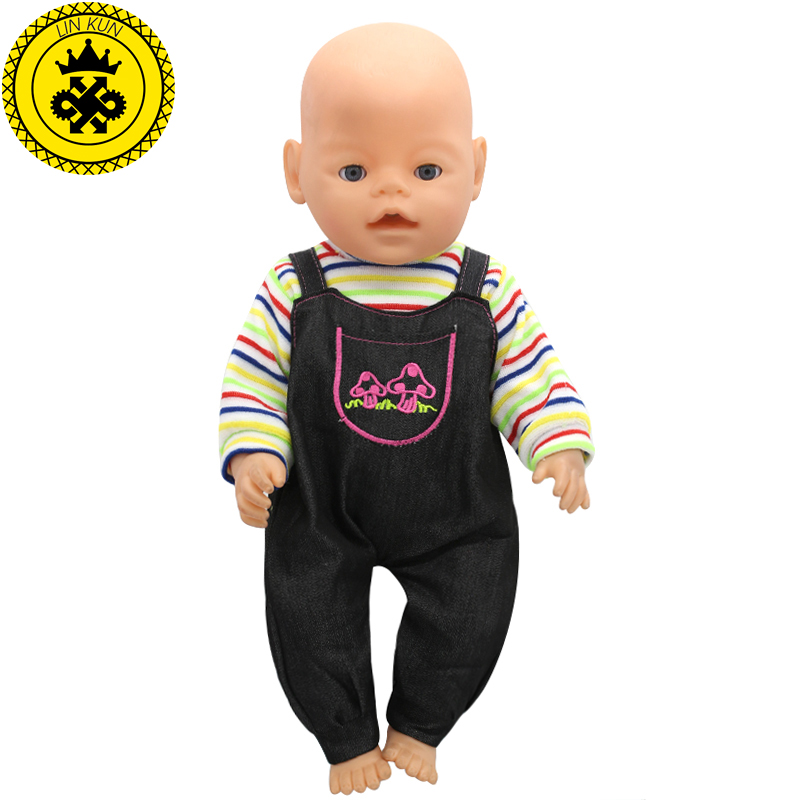 43cm Baby Born Zapf Doll Clothes Romper Suit Colorful