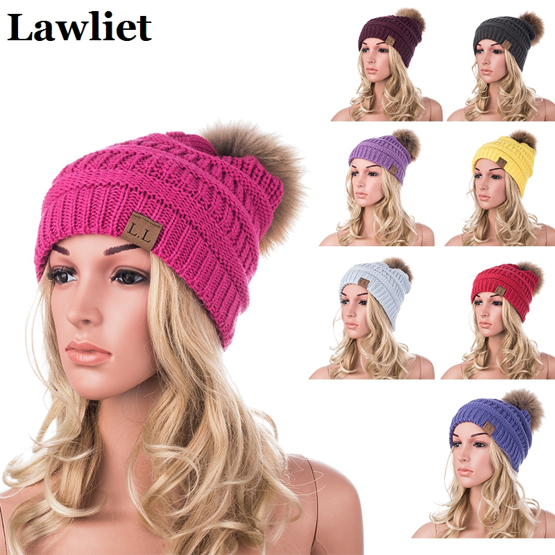Real Mink Pom Poms Wool Reccoon Fur Knitted Hat Skullies Winter Hat for Women Girls Hat feminino Casual  Beanies Hat A404 mink skullies beanies hats knitted hat women 5pcs lot 2299