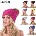 Real Mink Pom Poms Wool Reccoon Fur Knitted Hat Skullies Winter Hat for Women Girls Hat feminino Casual  Beanies Hat A404