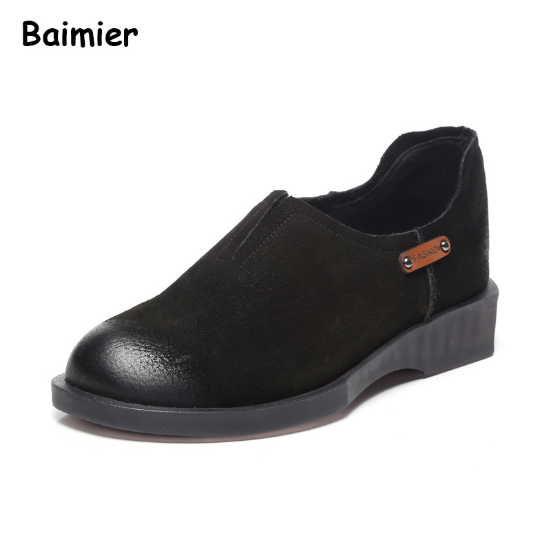 New Spring Genuine Leather Flats Shoes Vintage Women Oxford Fashion Women Casual Moccasins Slip On Ladies Summer Soft Shoes beyarne spring summer women moccasins slip on women flats vintage shoes large size womens shoes flat pointed toe ladies shoes