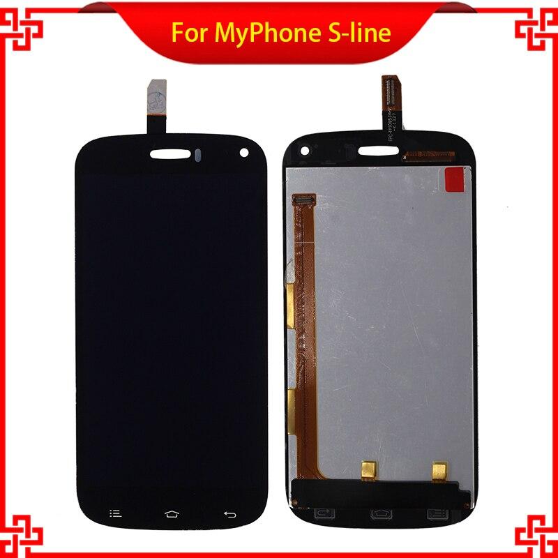 100% Probado Pantalla LCD de Panel Táctil Para MyPhone s-line Pantalla Táctil Lc