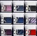 New style 6 pçs/set gravatas De Seda dos homens Gravatas moda Gravata set Manta Listra Mans Amarrar Gravatas com caixa de presente