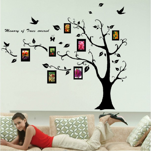 large tree template for wall - free shipping home decor large photo tree removable wall
