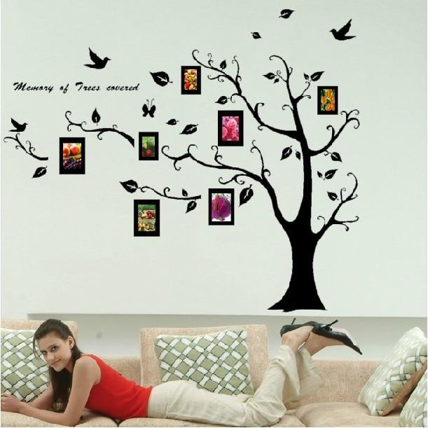 Free shipping home decor large photo tree removable wall sticker decals stencil art 115 x 85cm - Stencil albero da parete ...
