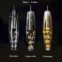 European Led Pendant Lights Crystal Lamp Modern Creative Dining Room Hanglamp Glass Shade For Bedroom Bar Kitchen AC 110 220V