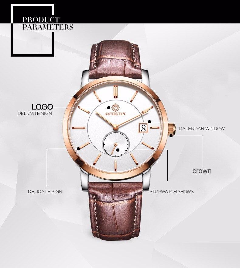 775e7d7d2a3a ᗑ Marca clásica de moda informal de negocios reloj hombres cuarzo ...