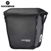 ROCKBROS Bicycle Bag Waterproof 18L Portable Bike Bag Pannier Rear Rack Tail Seat Trunk Pack Cycling
