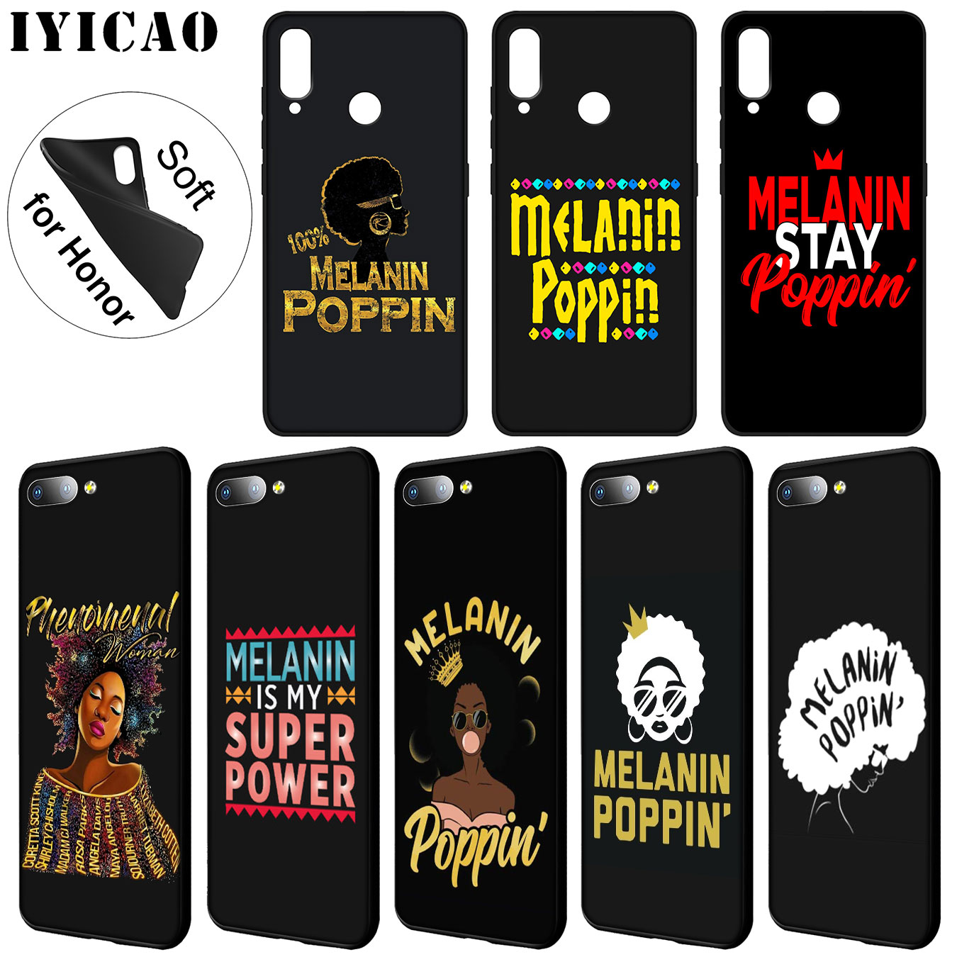 Conscientious Iyicao 2bunz Melanin Poppin Aba Soft Silicone Case For Huawei Y7 Y6 Prime Y9 2018 Y5 Honor 8c 8x 8 9 10 Lite 7c 7x 6a 7a Pro Fitted Cases Phone Bags & Cases