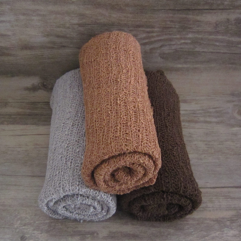 Stretch Wrap Photography Prop, Knit Fabric stretch newborn Bungkus, kain rajutan rayon untuk props foto bayi