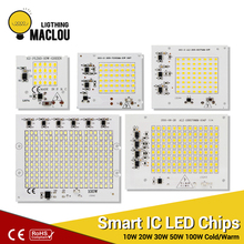 SMD LED Chip Lamp 220V Smart IC 10W 20W 30W 50W 100W High Power 2835 LED Spotlight Garden DIY For Outdoor FloodLight Light Beads цены