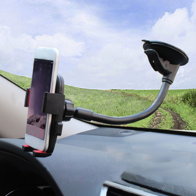 2019 Car Phone Holder Bracket Mount Cup Holder Universal Car Mount Mobile Suction Windshield Phone Locking Car Accessories
