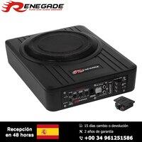 RENEGADE Active Subwoofer Active Box 20cm Speaker Car Soundspeaker in Alu Cast Enclosure Auto Turn On incl Bass Remote