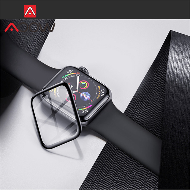 3D Curved Edge Tempered Glass for Apple Watch 38mm 40mm 42mm 44mm Screen Protector Full Cover Protective Film for iWatch 12 3 4