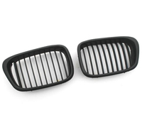 Euro Style Matte Black Front Grille for BMW E39 facelifted 5 Series