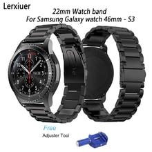 Купить с кэшбэком Stainless Steel Watch Band for Samsung Galaxy wacth 46mm Gear S3 Class/Frontier 22mm strap smart watch accessories bracelet
