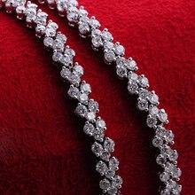 Свадебный браслет из белого золота нежный женский цепь на запястье